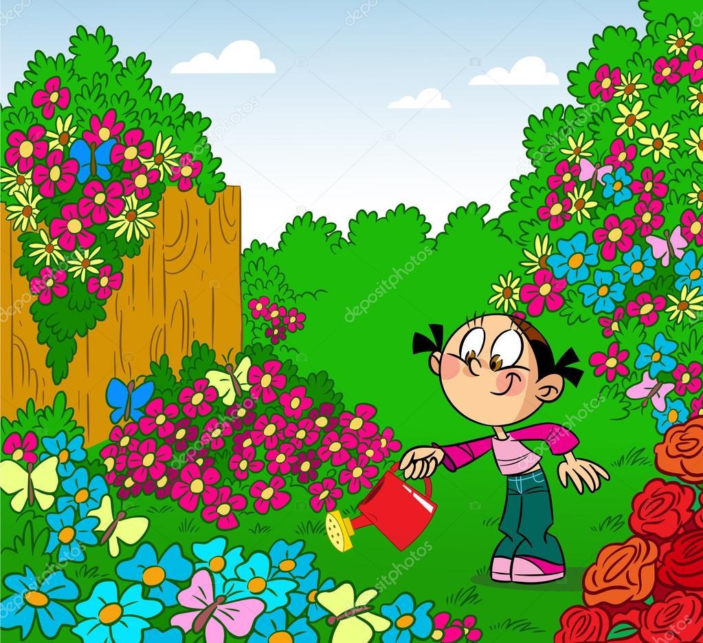 Flores En El Jardin Animadas Novocom Top