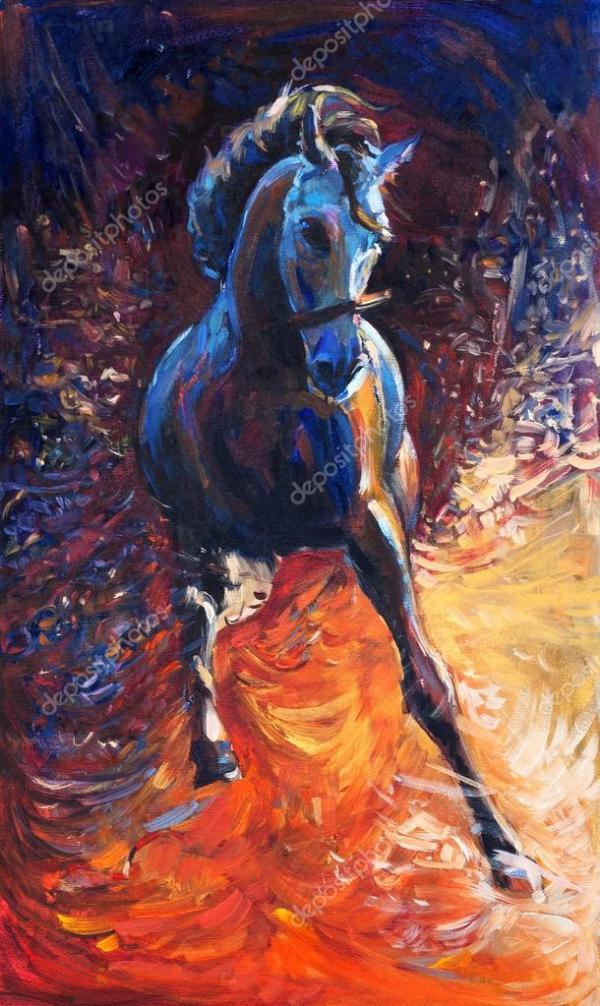 Синяя лошадь — Стоковое фото © borojoint #41250903