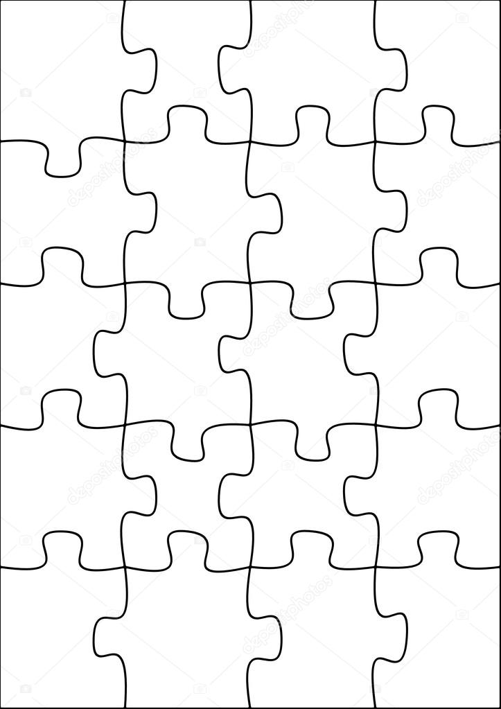 Exelent Puzzle Template 20 Pieces Picture Collection