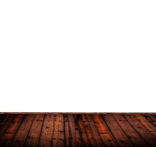Белый деревянный пол изолирован на белом фоне — Стоковое ...