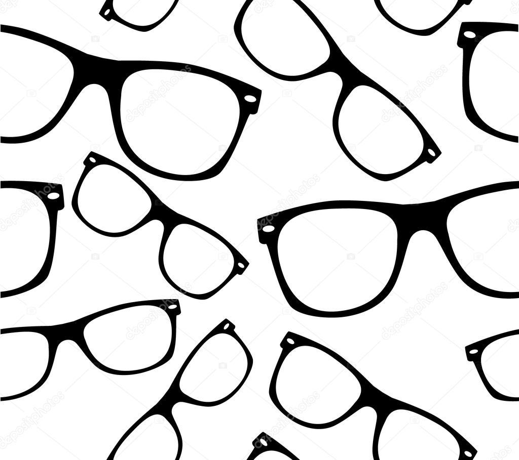 Glasses Seamless Pattern Retro Sunglasses Vector