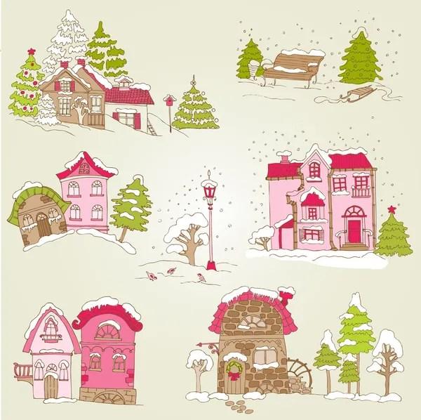 Visualizza altre idee su natale, disegni applique, decorazioni natalizie. Casette Natale Immagini Vettoriali Rf Disegni Casette Natale Stock Depositphotos
