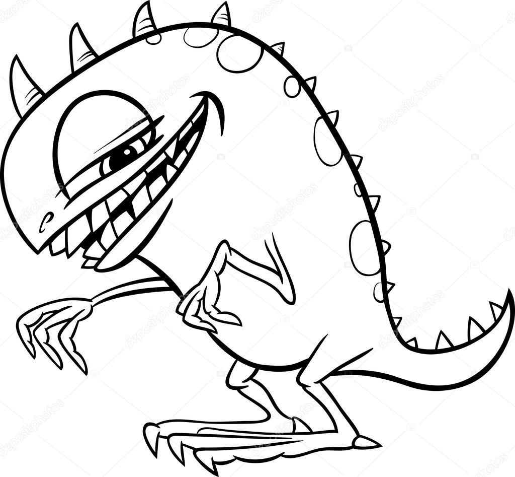 Bande Dessinee Illustration De Monstre A Colorier