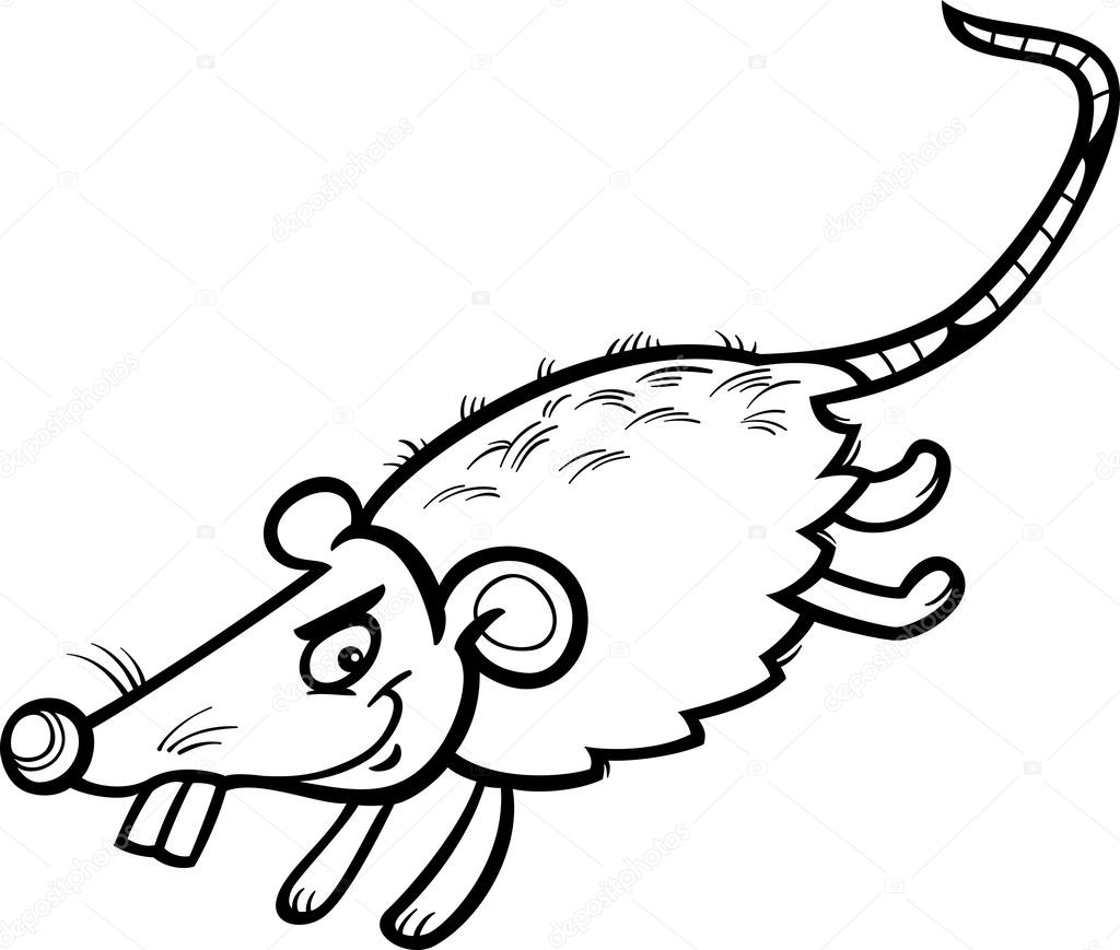 Mouse Or Rat Cartoon Coloring Page Stock Vector © Izakowski