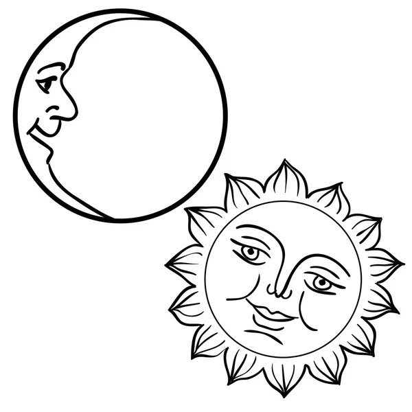 Here sun is depicted as male face and moon as female face, it means opposite. 116 Half Sun Face Vector Images Free Royalty Free Half Sun Face Vectors Depositphotos