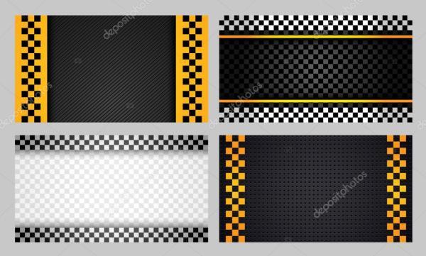 Визитки такси набор новый — Векторное изображение © ecelop ...