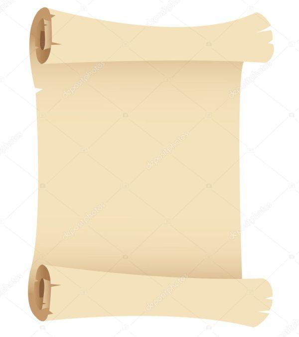 Вектор: свиток. Старый свиток бумаги гранж — Векторное ...