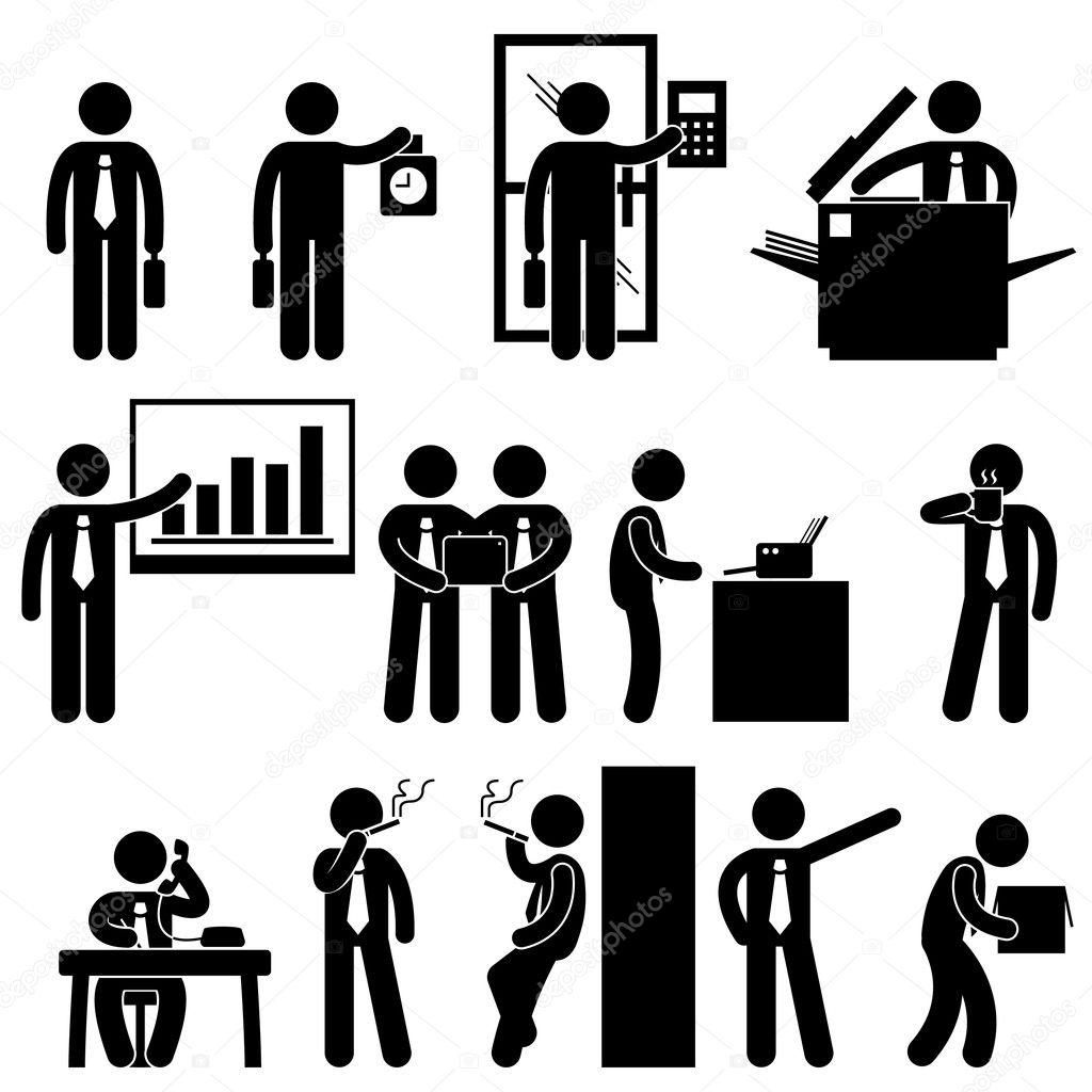 Business Businessman Employee Worker Office Colleague