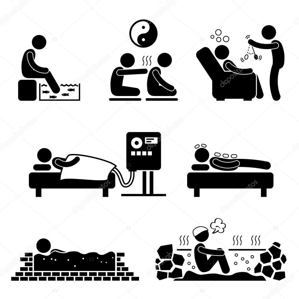 Icone De Pictograma Terapias Alternativas Tratamento