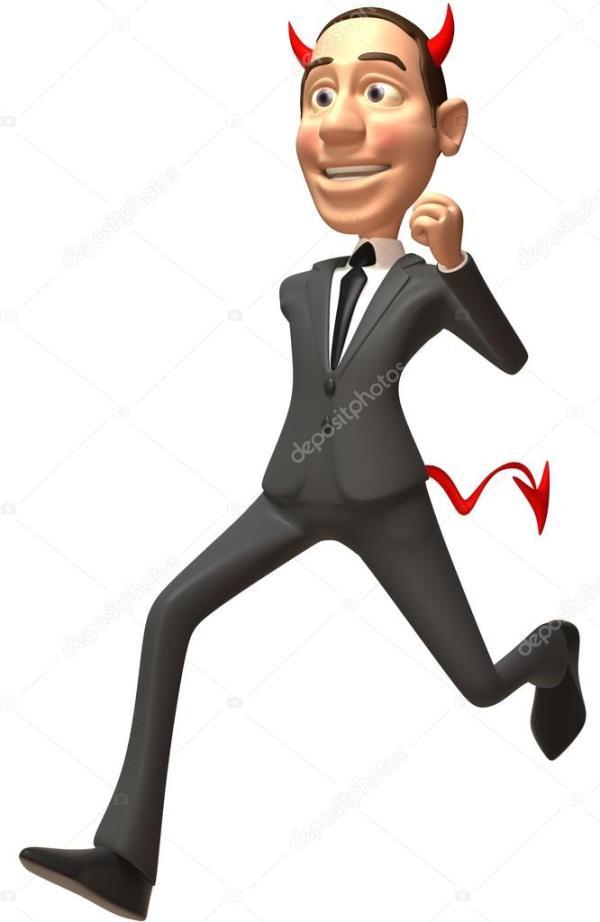 Злой бизнесмен — Стоковое фото © julos #37733815
