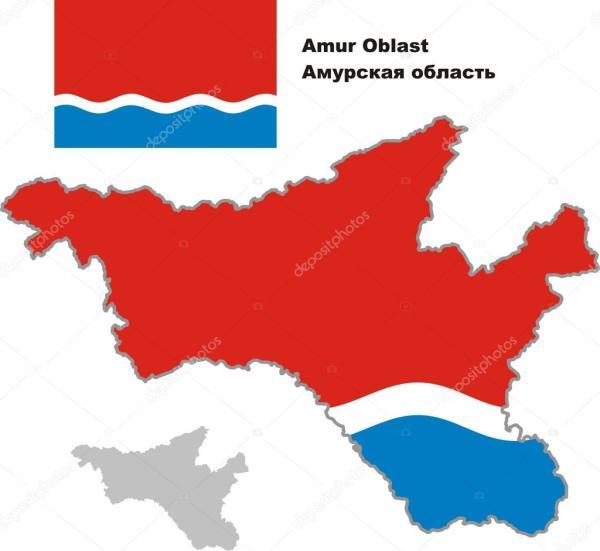 Картинки: карта амурской области. Контурная карта Амурской ...