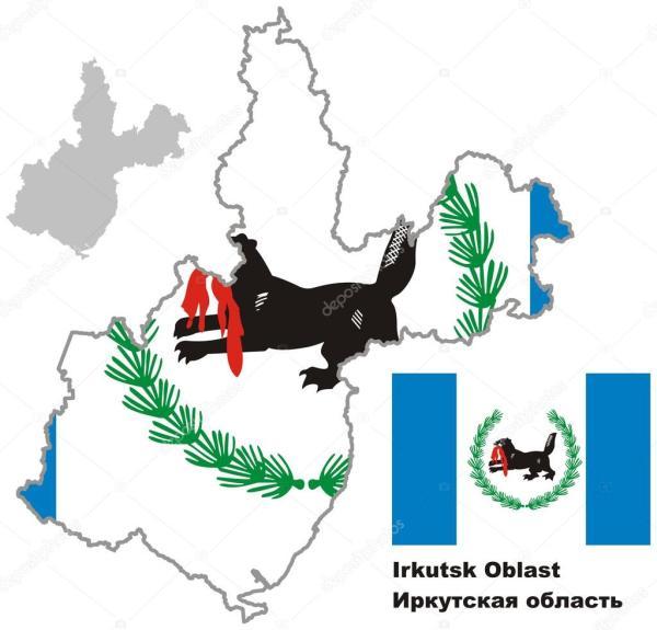 Картинки иркутской области. Контурная карта Иркутской ...