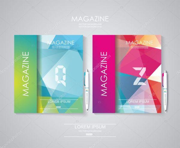 Обложка журнала с узор из геометрических фигур — Векторное ...