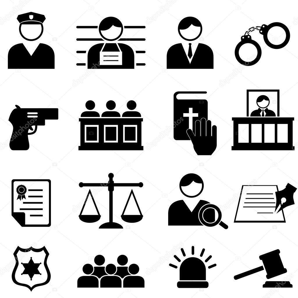 Legal Justice And Court Icons