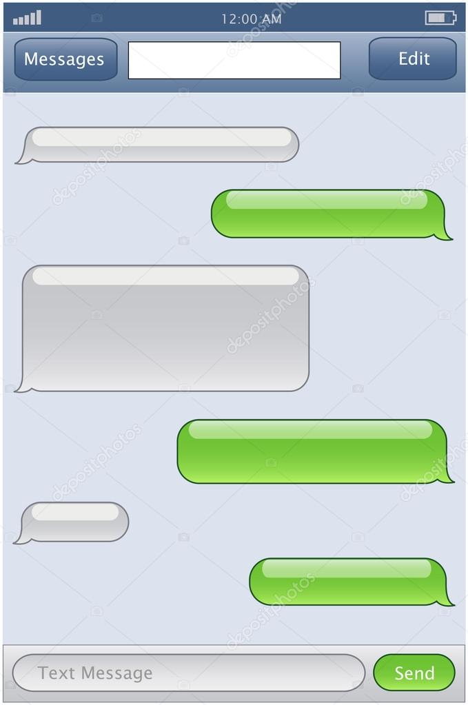 Iphone Text Bubble Template Printable