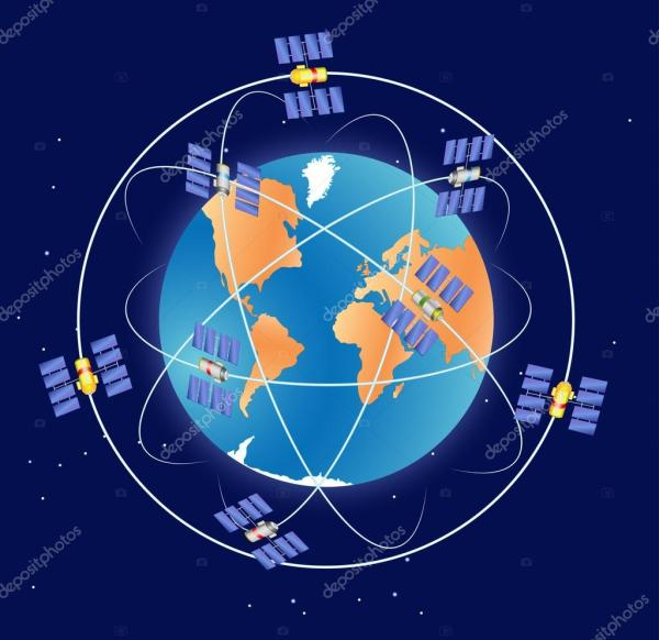 Global Positioning System gps — Stock Vector © edesignua ...