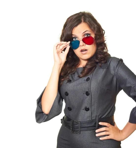 Женщина в красных очках — Стоковое фото © VGeorgiev #70612129