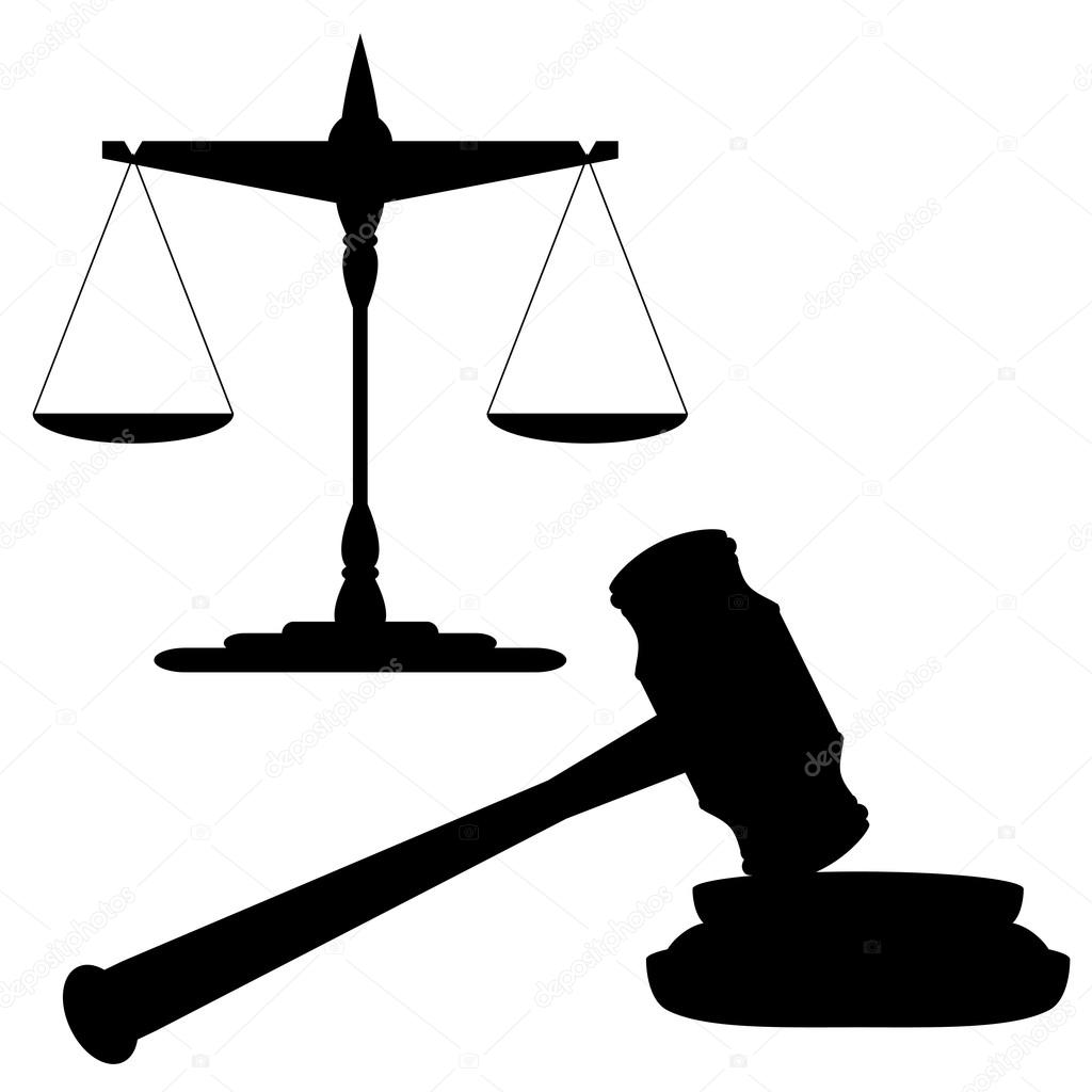 Balanca Da Justica E Martelo
