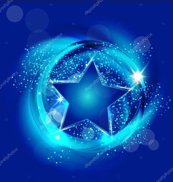 Brilliant blue star background vector — Stock Vector ...