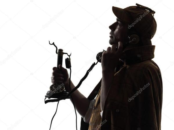 Шерлок фото скачать. Шерлок Холмс силуэт на телефоне ...