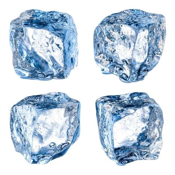 Картинка льда Три кубики льда на белом фоне Стоковое
