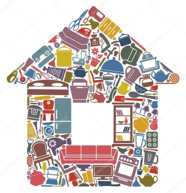 Картинки: домашнее хозяйство. Все для дома — Векторное ...