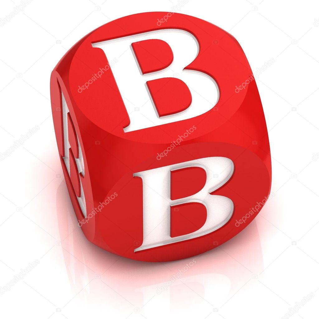 Dice Font Letter B