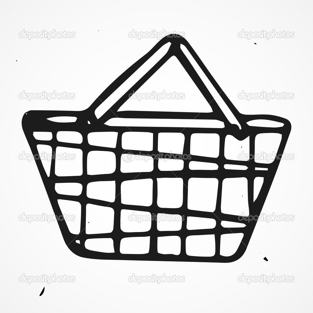 Cartoon Shopping Basket