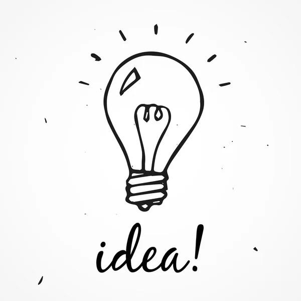 Hand Drawn Light Bulb Stock Vector Dimgroshev 37388807