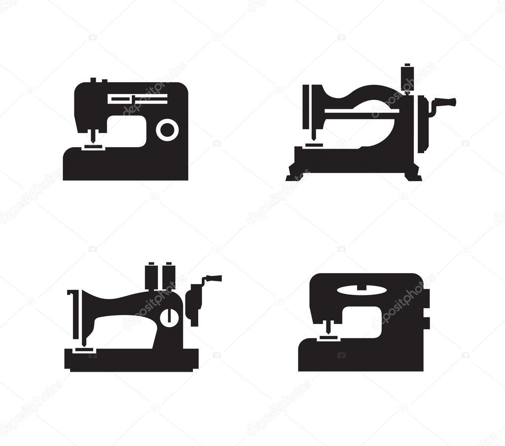 Nahmaschine Symbole Vektor Format