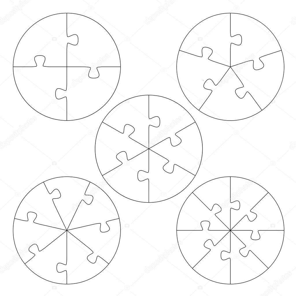 Circulo De Plantillas De Rompecabezas