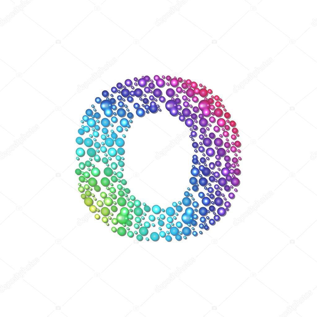 Circle Rainbow Letter O