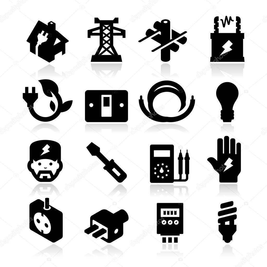 Imagenes Iconos De Electricidad