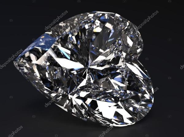 Красивый бриллиант в форме сердца — Стоковое фото ...