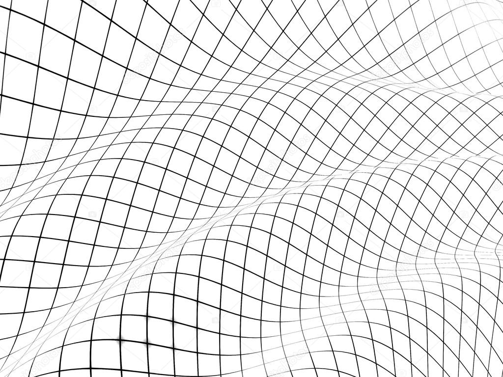 3d Grid Covered Curved Surface