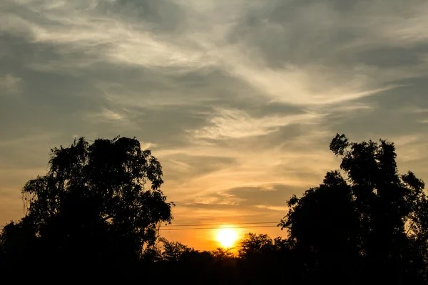 Кольорове Небо Під Час Заходу Сонця Небо Сутінках ...