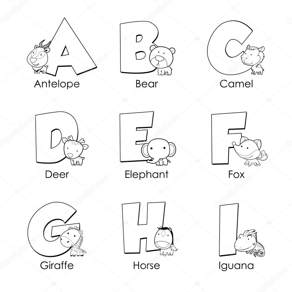 Coloring Alphabet For Kids A To I