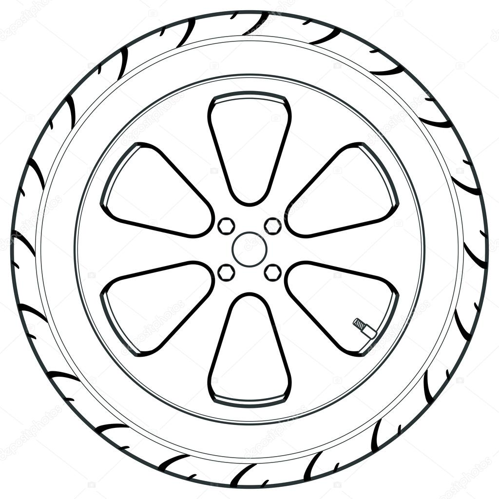 Car Or Truck Tire Symbol