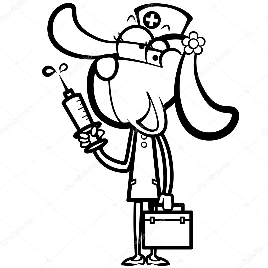 Syringe Coloring Coloring Pages