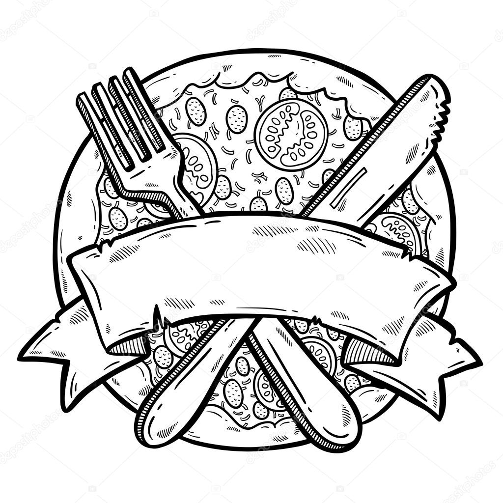 Illustration Of Tasty Pizza Design Template Pizza Box