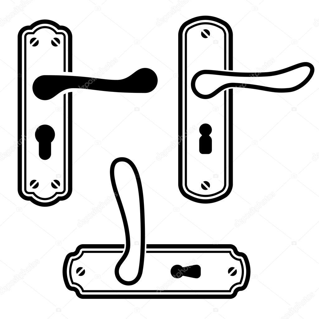 Door Handle Black Icons