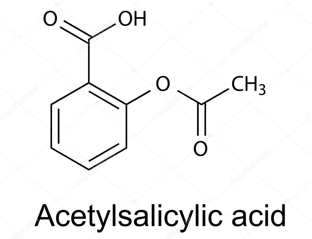 Formule Chimique Structurale De L Acide Acetylsalicylique