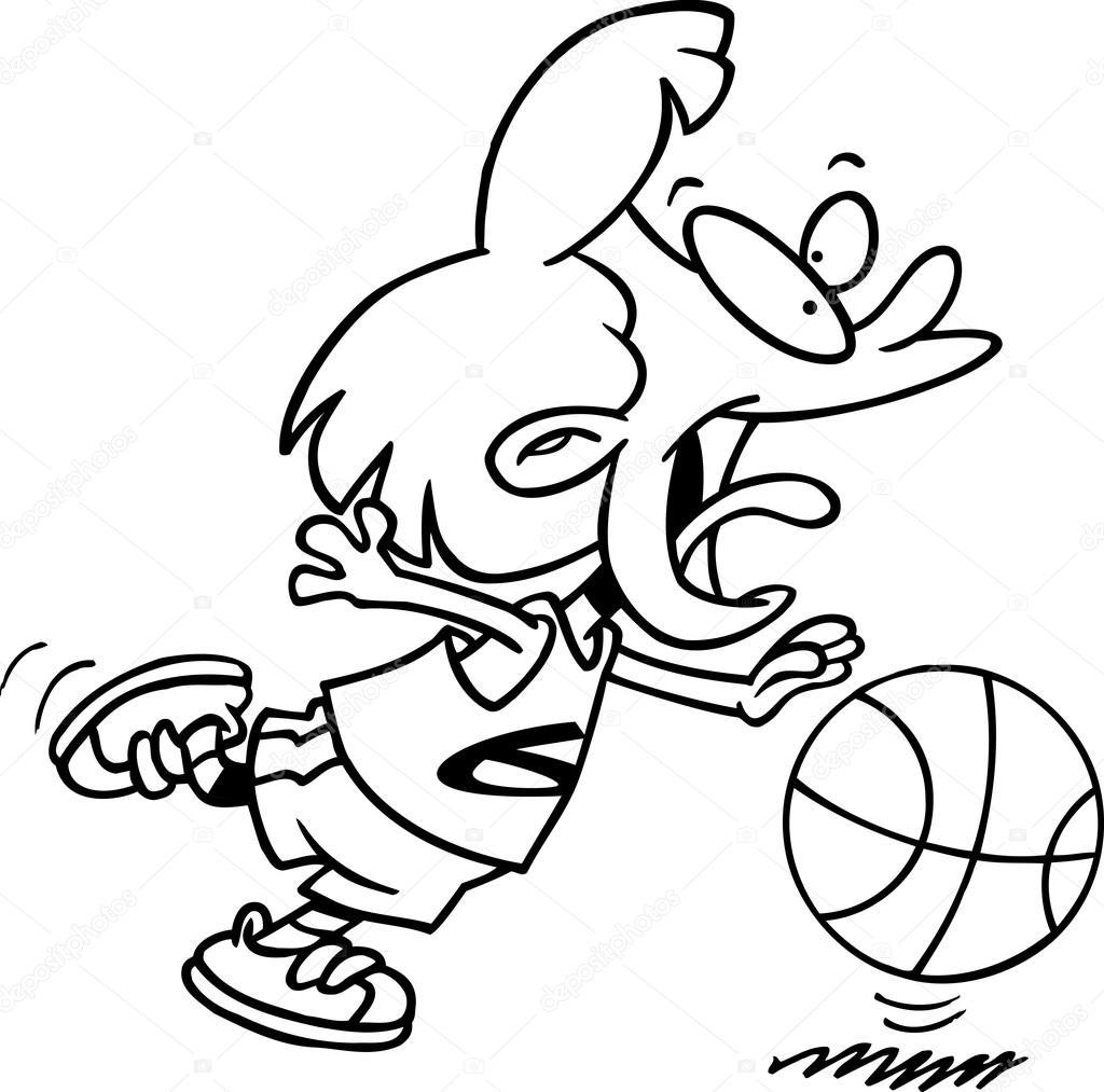 Fille De Basket Ball De Dessin Anime