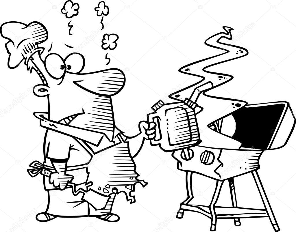 Cartoon Barbecue Grill