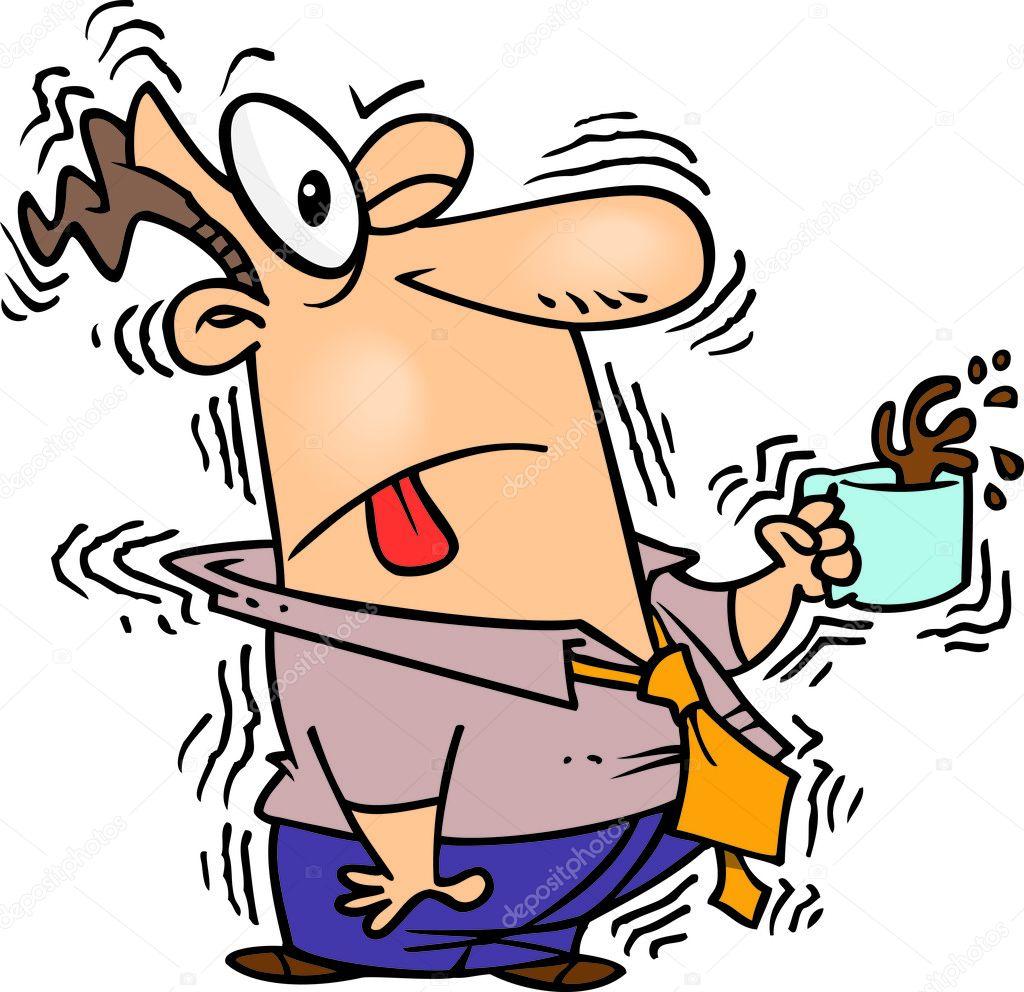 Cartoon Caffeine Overdose