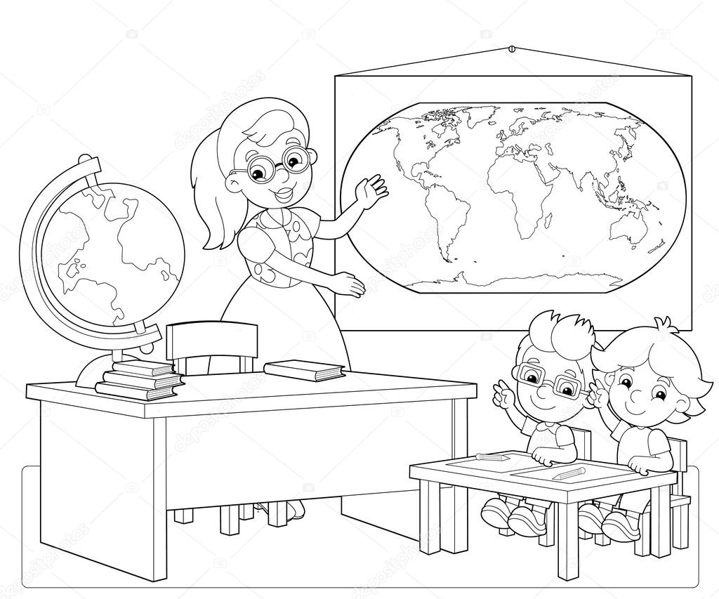 Clroom Coloring Page
