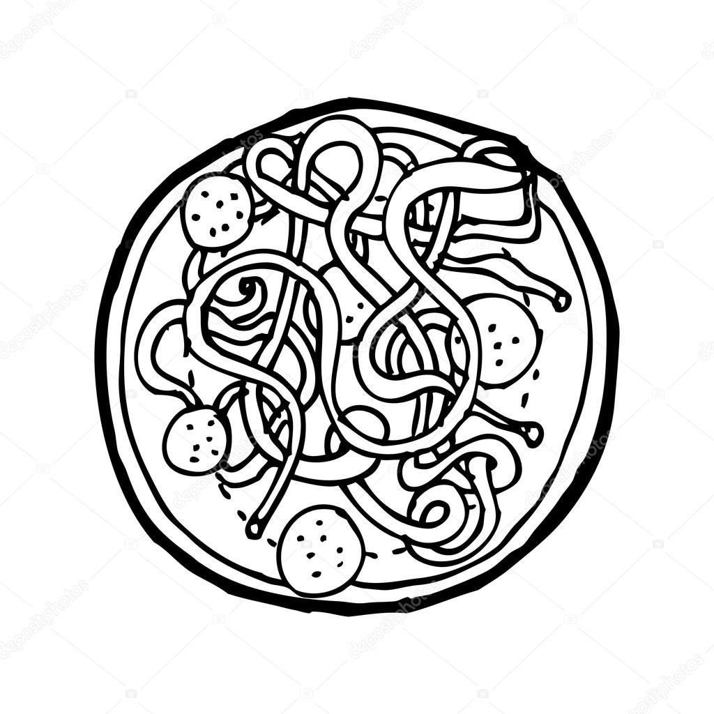 Spaghetti And Meatballs Cartoon