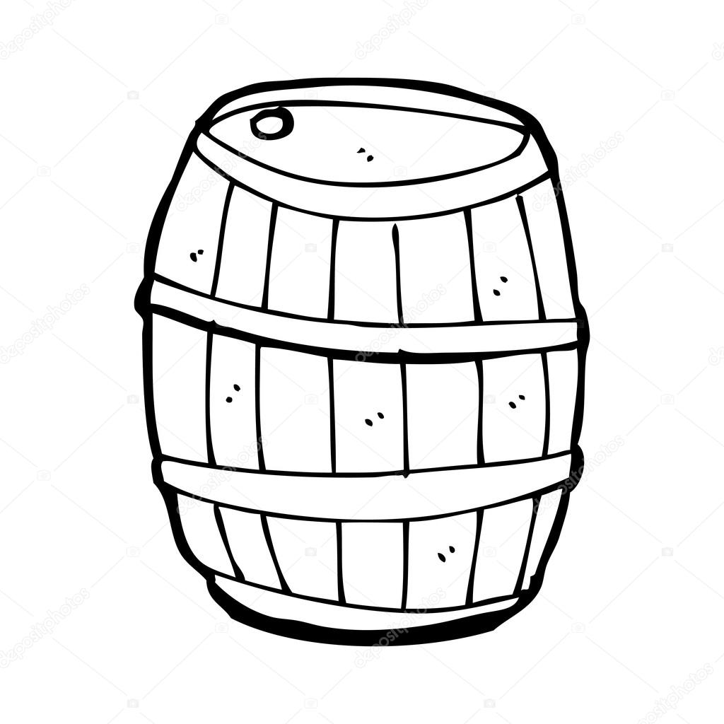 Old Barrel Cartoon