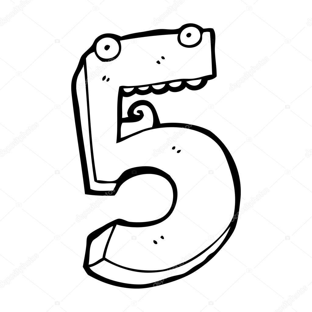 Personaje De Dibujos Animados Numero 5