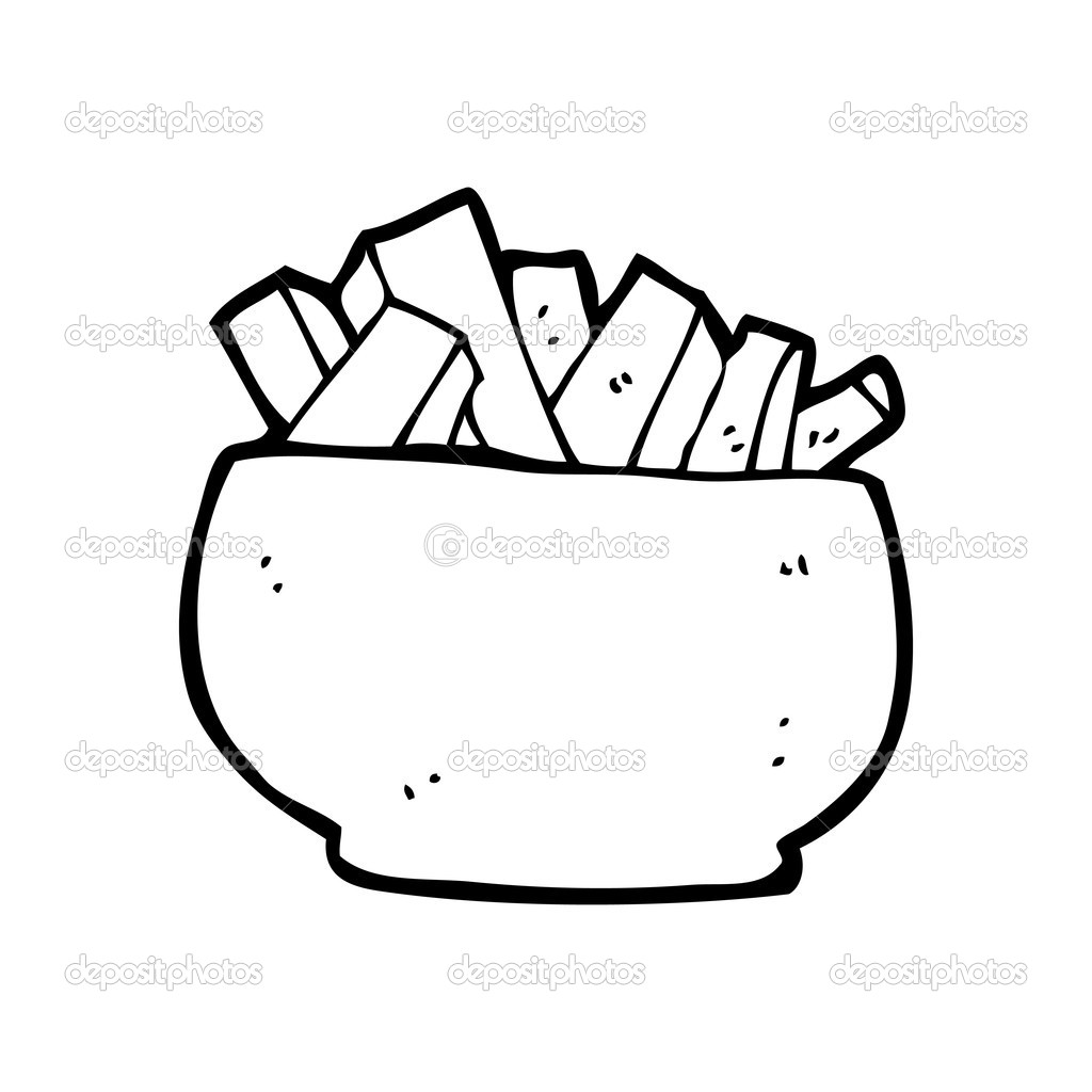 Bowl Of Chips Cartoon